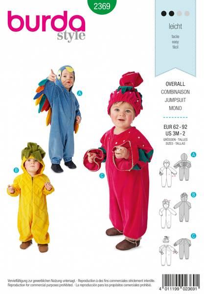 Bilde av 2369 - Burda - kostymer, frukt & papegøye