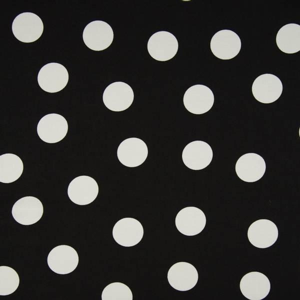 Bilde av Vevd viskose chally - 3,5 cm hvite prikker på sort