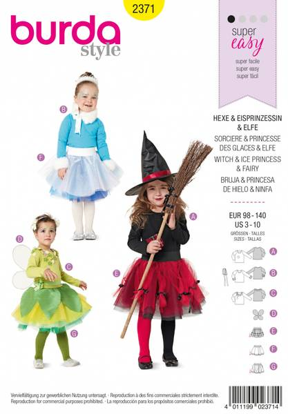 Bilde av 2371 - Burda - kostymer, alv, prinsesse, heks