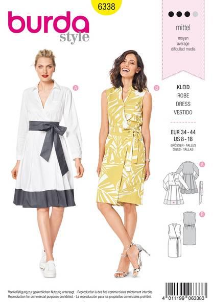 Bilde av 6338 - Burda - kjole, retrokjole