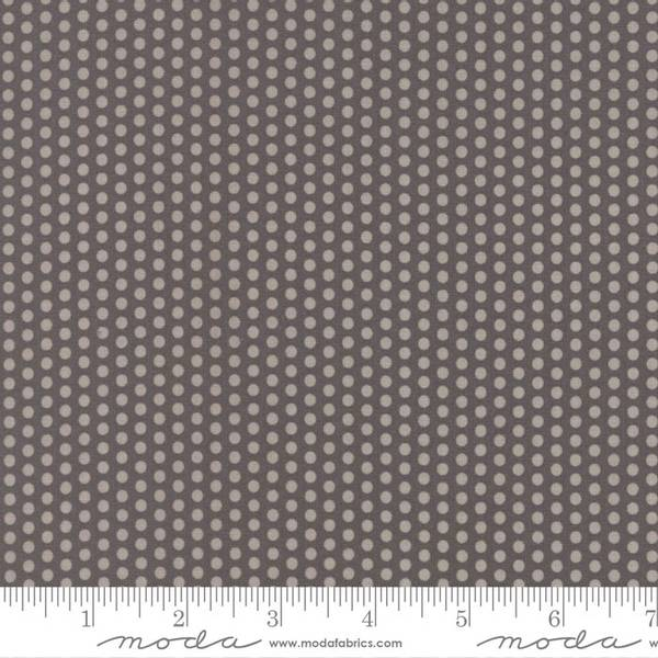 Bilde av 40 cm Sundrops - 3 mm lysgrå prikker på mørkgrå