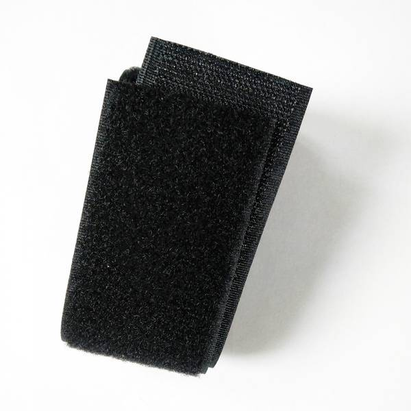 Bilde av Borrelås - 5 cm bred - sort - uten lim