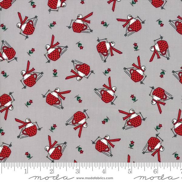 Bilde av Merry Merry Snow Days - 2 cm snømann på lysgrå