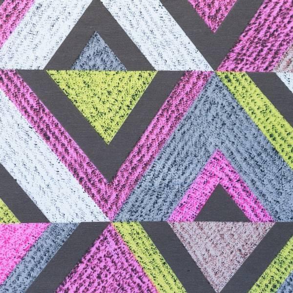 Bilde av Kanvas - 14 cm høye rader med trekanter