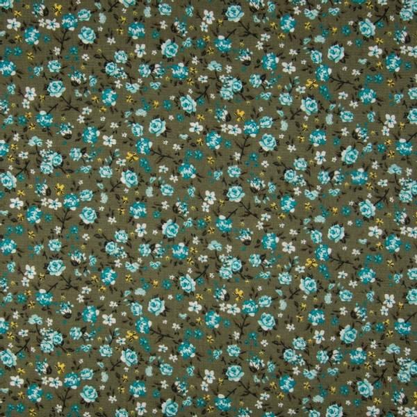 Bilde av 50 cm Viskose Crincle - 1 cm blomster på kaki