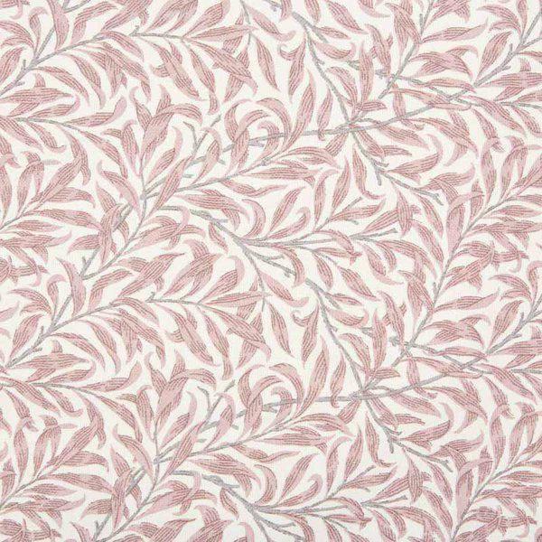 Bilde av Ramas - 3-4 cm rosa bladmønster på offwhite