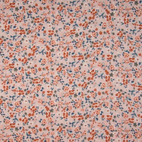 Bilde av 70 cm Viskose Crincle - 1 cm blomster på rosa