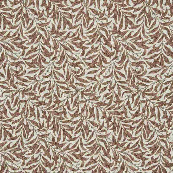 Bilde av Ramas - 3-4 cm terracotta bladmønster på offwhite