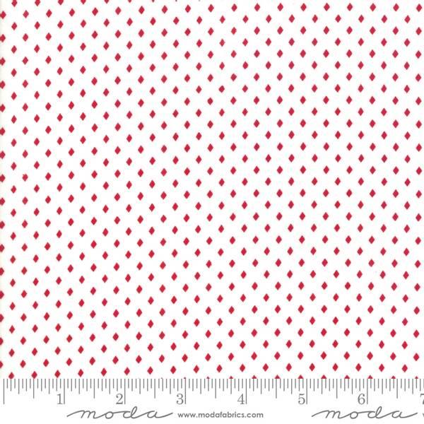 Bilde av Merry Merry Snow Days - 2 mm røde kvadrater på offwhite