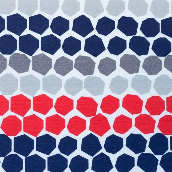 Bilde av Kanvas - 3 cm hexagon på linfarget