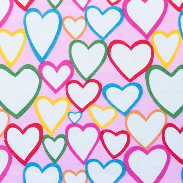 Bilde av Kanvas - 4-8 cm hjerter på rosa