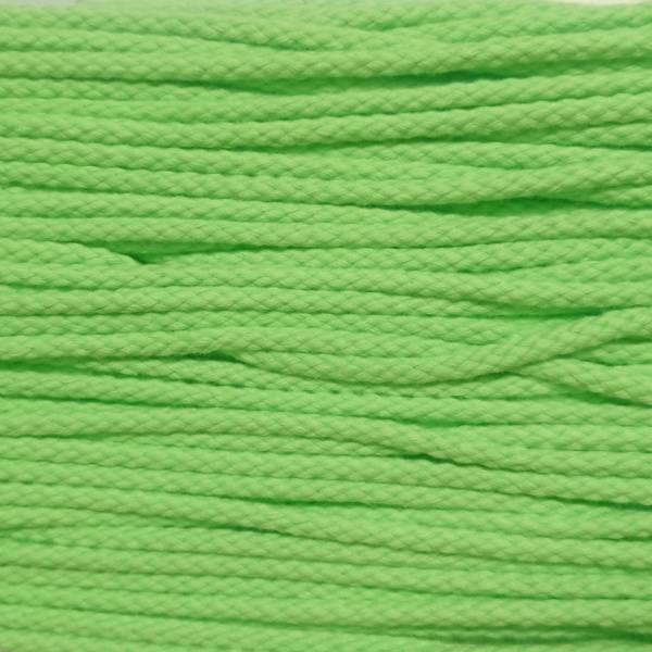 Bilde av 3,4 m Snor, rund, 5 mm, bomull - limegrønn