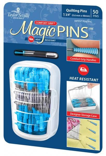 Bilde av Magic Pins, blå - knappenåler, 4,8 cm lang, 50 st