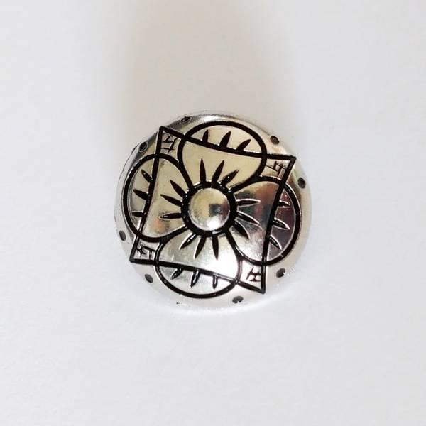 Bilde av Tinn-knapp med øye, blomst, 18 mm