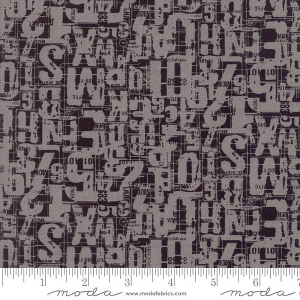 Bilde av Compositions - 15-25 mm grå bokstaver og tall på sort