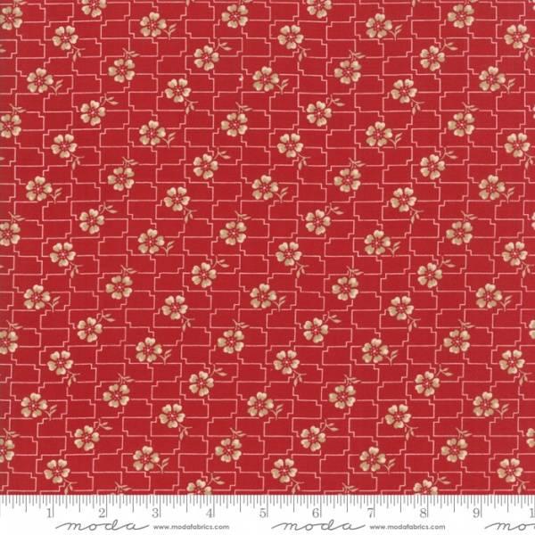 Bilde av Farmhouse Red - mørkrød mønstret, 13 mm blomsterhoder