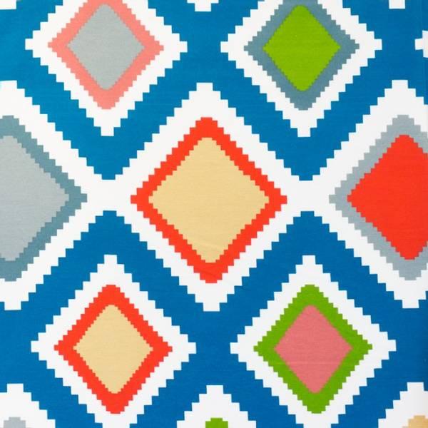 Bilde av Kanvas - 15 cm aztek-kvadrater på offwhite
