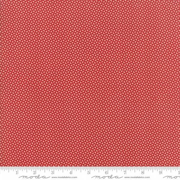 Bilde av Farmhouse Red - mørkrød mønstret, 3 mm trekantmønster