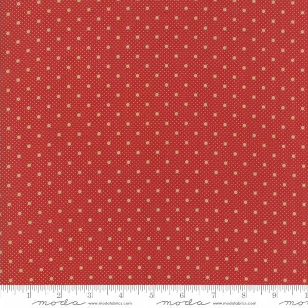 Bilde av Farmhouse Red - mørkrød 3mm prikkemønster