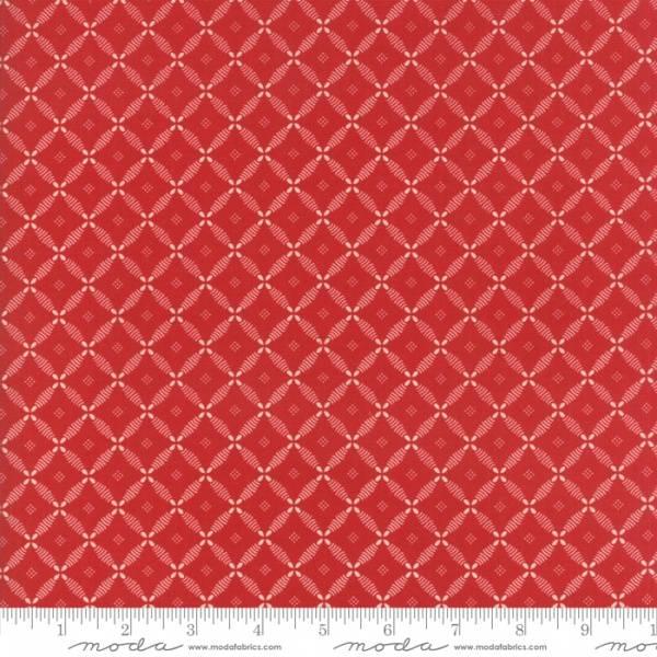 Bilde av Farmhouse Red - mørkrød 2 cm mønstret