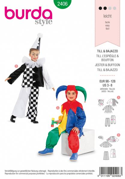 Bilde av 2406 - Burda - kostymer, karneval