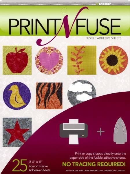 Bilde av Print'n'Fuse - 25 st. Vliesofix ark til blekkskriver