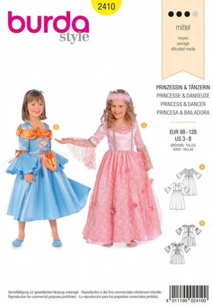 Bilde av 2410 - Burda - kostymer, prinsesse