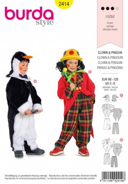 Bilde av 2414 - Burda - kostymer, klovn & pingvin, barn