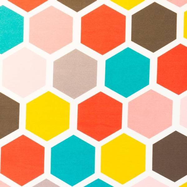 Bilde av Kanvas - 11 cm hexagon på linfarget