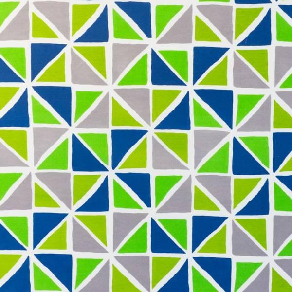 Bilde av Kanvas - 6 cm blå-grønne trekanter