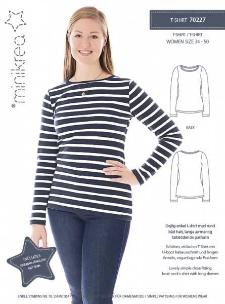 Bilde av Minikrea 70227 - T-skjorte basic kvinne, str. xs-xl