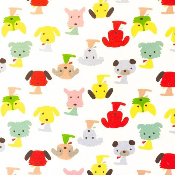 Bilde av Kanvas - 7 cm hunder på naturfarget