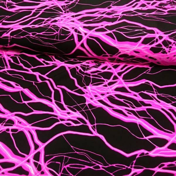 Bilde av Lycra Neon - rosa lynnedslag på sort