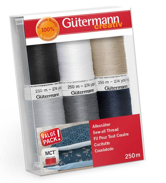 Bilde av Trådpakke - Sew All sytråd 250 m - 6 farger