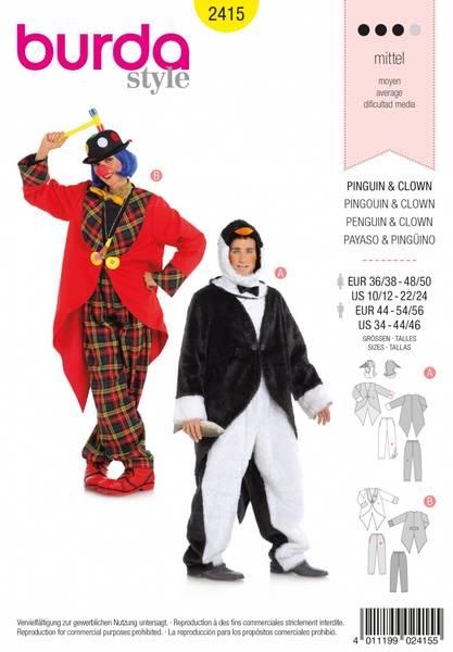 Bilde av 2415 - Burda - kostymer, klovn & pingvin, voksen