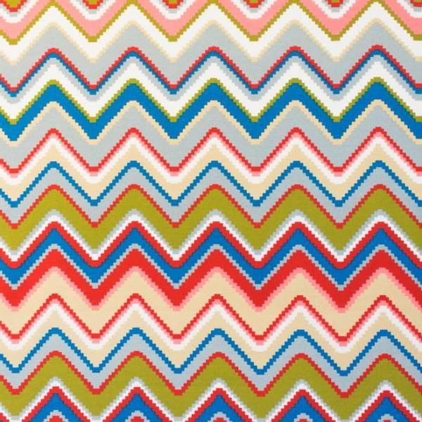 Bilde av Kanvas - flerfarget sikksakkk, ca 6 cm høye
