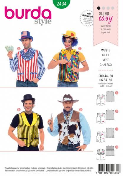 Bilde av 2434 - Burda - kostymer, vest