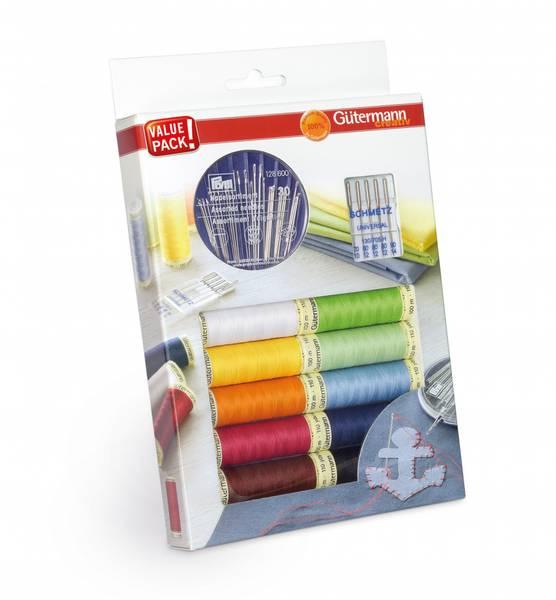 Bilde av Trådpakke - 10x tråd, symaskinsnåler & synåler