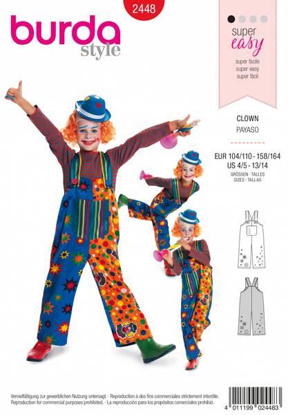 Bilde av 2448 - Burda - kostymer, klovnebukse, barn