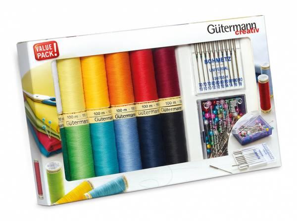 Bilde av Trådpakke - 12x tråd, symaskinsnåler, knappenåler