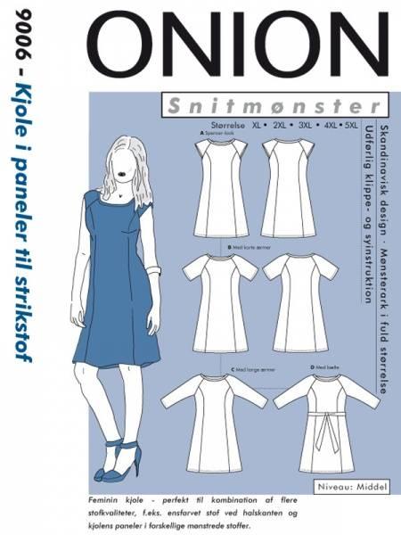 Bilde av Onion 9006 - kjole i paneler til stretch, pluss-størrelse