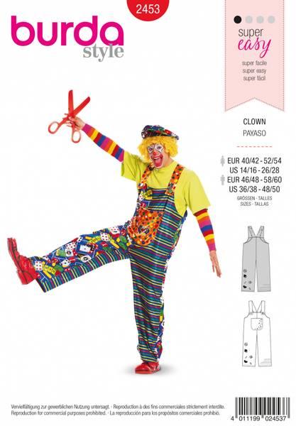 Bilde av 2453 - Burda - kostymer, klovnebukse, voksen