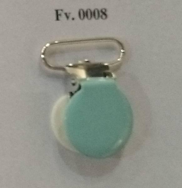 Bilde av Seleklips - rund, 25 mm stor, lysblå