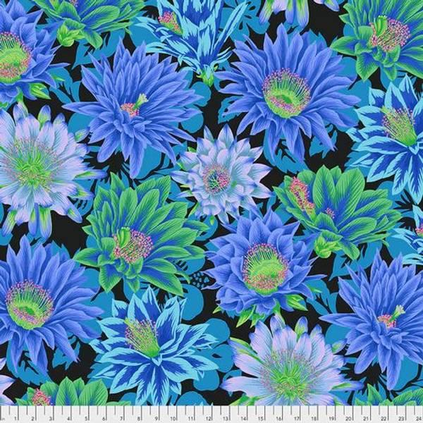 Bilde av Kaffe Fassett Collective - 20 cm blomster på blå