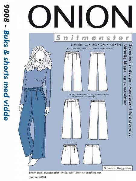 Bilde av Onion 9008 - bukse/shorts med legg til vevd stoff