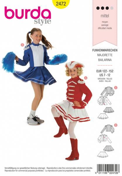 Bilde av 2472 - Burda - kostymer, cheerleader