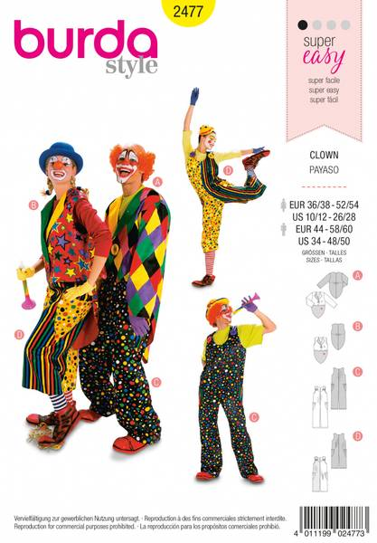 Bilde av 2477 - Burda - kostymer, klovn