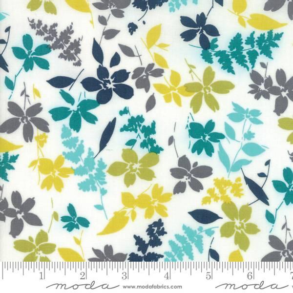 Bilde av Basic Mixologie 2 - 3 cm grønn-gule blomster på hvit