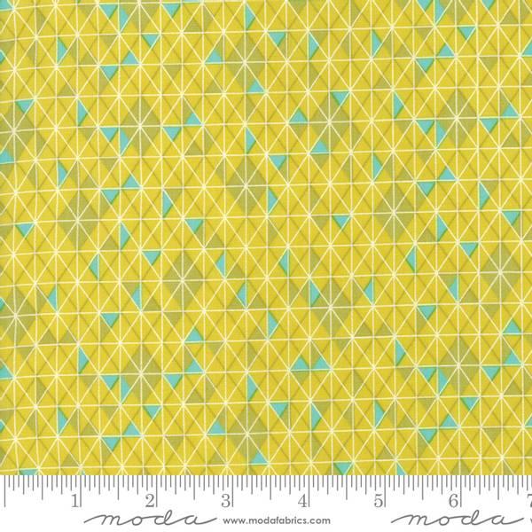Bilde av 50 cm Basic Mixologie 2 - 1 cm trekantruter - gulgrønn