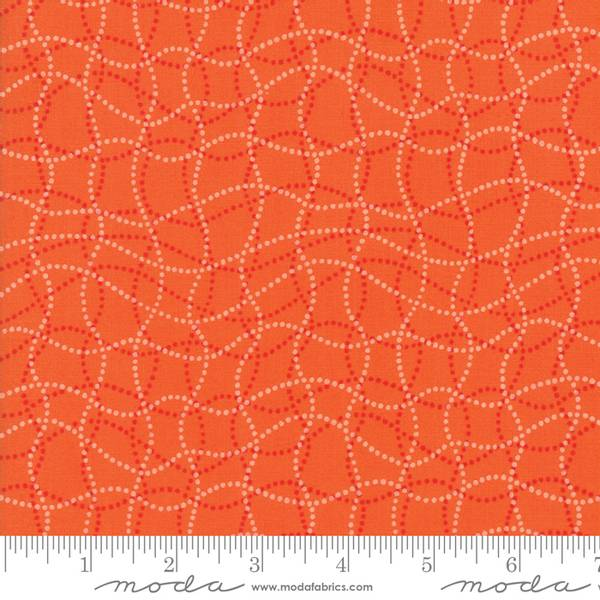 Bilde av 50 cm Basic Mixologie 2 - 1-2 cm grafiske ruter, oransje